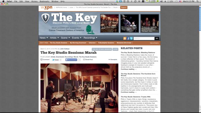 The Key Studio Session w/Marah